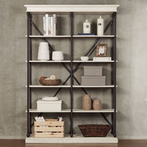 Lubeck Vintage White Bookshelf