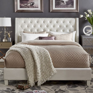 Sotello Crystal Tufted King Bed