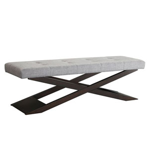 Springview Grey X Base Bench