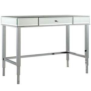 Prezia Chrome Mirrored Writing Desk