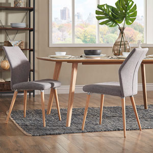 Byxbee Natural Contoured Side Chair, Set of 2