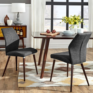 Byxbee Espresso Contoured Side Chair, Set of 2
