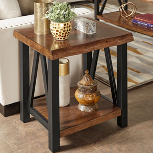 Canby Live Edge Accent Table