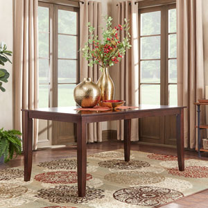 Keilman Dark Cherry 66 inch Extendable Parson Leg Dining Table