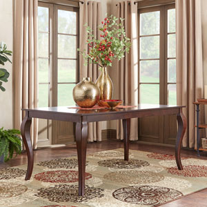 Keilman Dark Cherry 66 inch Extendable Cabriole Leg Dining Table