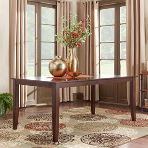 Keilman Dark Cherry 72 inch Extendable Parson Leg Dining Table