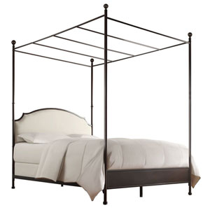 Ophelia Bronzed Brown Queen Canopy Complete Bed