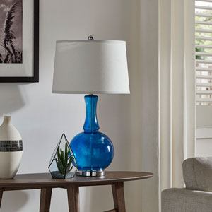 Gladys Blue Table Lamp