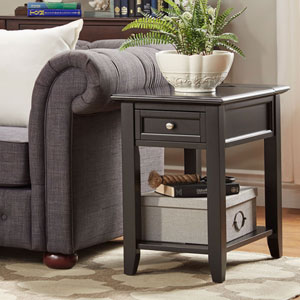Bernay Midnight Charging Accent Table