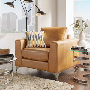 Galindo Leather Arm Chair