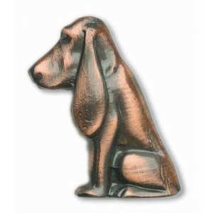Antique Copper Flop Ear Dog Knob