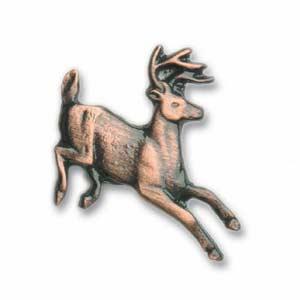 Antique Copper Running Whitetail Knob