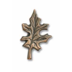 Antique Brass Oak Leaf Knob