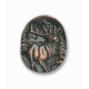 Antique Copper Elk Round Knob