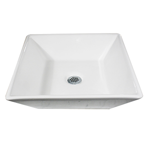 Brant Point White Square Tapered Vessel Sink