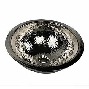 Brightwork Home Nickel 13-Inch Round Undermount Bathroom Sink