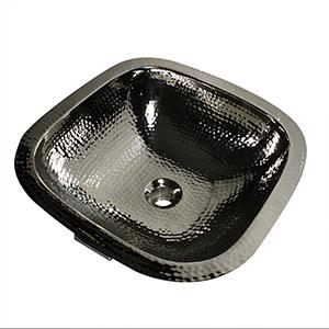 Brightwork Home Nickel 16.25-Inch Square Undermount Bathroom Sink