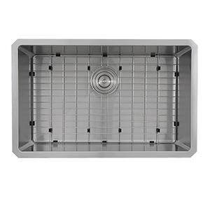 Pro Series Brushed Satin Rectangle Single Bowl Kitchen Sink