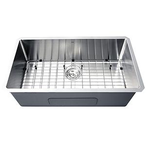 Pro Series Brushed Satin 32-Inch Undermount Kitchen Sink