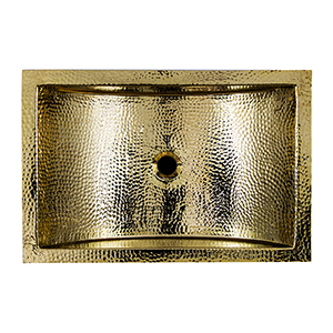 Brightwork Home Brass 23.5-Inch Hand Through Undermount Bathroom Sink