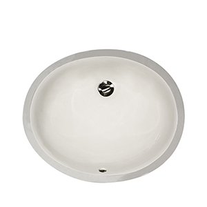 Mini Oval Undermount Vanity Bowl - Biscuit