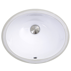 Mini Oval Undermount Vanity Bowl - White