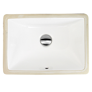 Great Point White 16-Inch Undermount Ceramic Sink