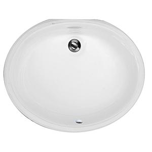 White Large Oval Undermount Vanity Bowl