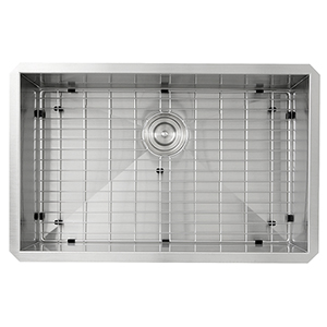 304 16 Gauge Pro Series Stainless Steel Large Zero Radius Single Bowl Undermount Kitchen Sink