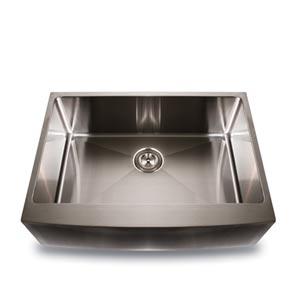 304 16 Gauge Pro Series Stainless Steel Large Zero Radius Single Bowl Apron Undermount Kitchen Sink