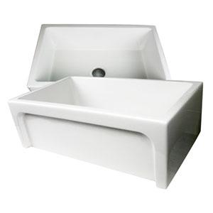 Cape White 30-Inch Italian Single Bowl Fireclay Sink