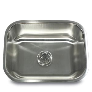 304 18 Gauge Stainless Steel Rectangle 23-Inch Undermount Kitchen Sink