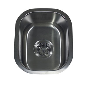Quidnet Brushed Satin 15-Inch Undermount Stainless Steel Bar/Prep Sink
