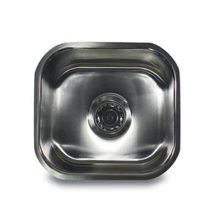 304 16 Gauge Stainless Steel Single Bowl 13-Inch Undermount Bar Sink