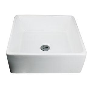 Brant Point White Square Vessel Sink