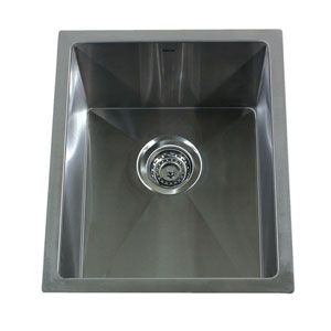 Pro Series Brushed Satin 15-Inch Undermount Bar/Prep Sink
