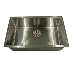 Pro Series Brushed Satin Rectangle Single Bowl Kitchen Sink