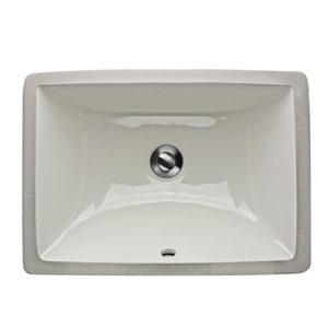 Great Point White 16-Inch Undermount Ceramic Sink