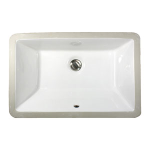 Great Point White 19-Inch Undermount Ceramic Sink