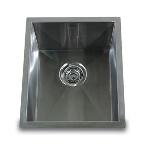 304 16 Gauge Pro Series Stainless Steel Zero Radius Single Bowl Undermount Bar Sink