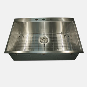 Pro Series Brushed Satin Drop-In Kitchen Sink