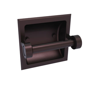 Continental Antique Bronze Six-Inch Recessed Toilet Tissue Holder