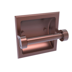 Continental Antique Copper Six-Inch Recessed Toilet Tissue Holder
