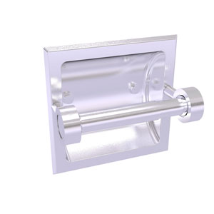 Continental Satin Chrome Six-Inch Recessed Toilet Tissue Holder