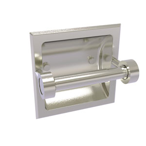 Continental Satin Nickel Six-Inch Recessed Toilet Tissue Holder
