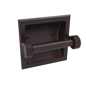Continental Venetian Bronze Six-Inch Recessed Toilet Tissue Holder with Groovy Accents