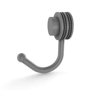 Venus Matte Gray Two-Inch Robe Hook with Dotted Accents