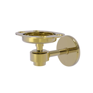 Satellite Orbit One Unlacquered Brass Four-Inch Tumbler and Toothbrush Holder
