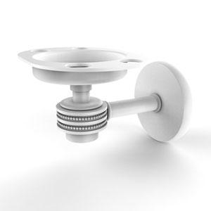 Satellite Orbit One Matte White Four-Inch Tumbler and Toothbrush Holder