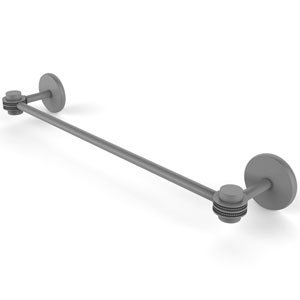 Satellite Orbit One Matte Gray 36-Inch Towel Bar with Dotted Accent